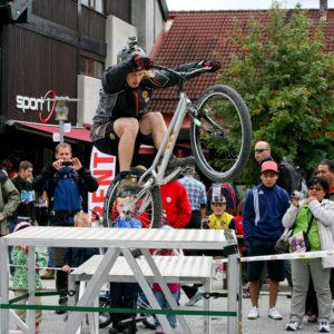 Buff sykkelshow i sving! Foto: Kurt Gaustad